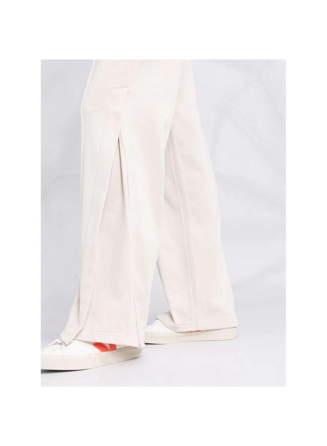 Casual Wide Leg Track Pants in Ecru