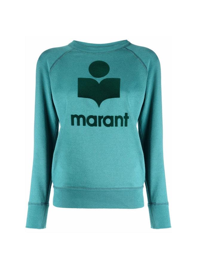 Logo Crew Neck Sweatshirt in Mint Green