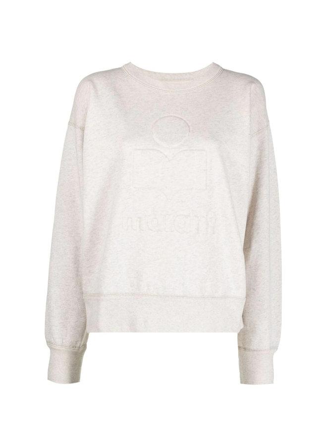 Crew Neck Logo Sweatshirt in Ecru