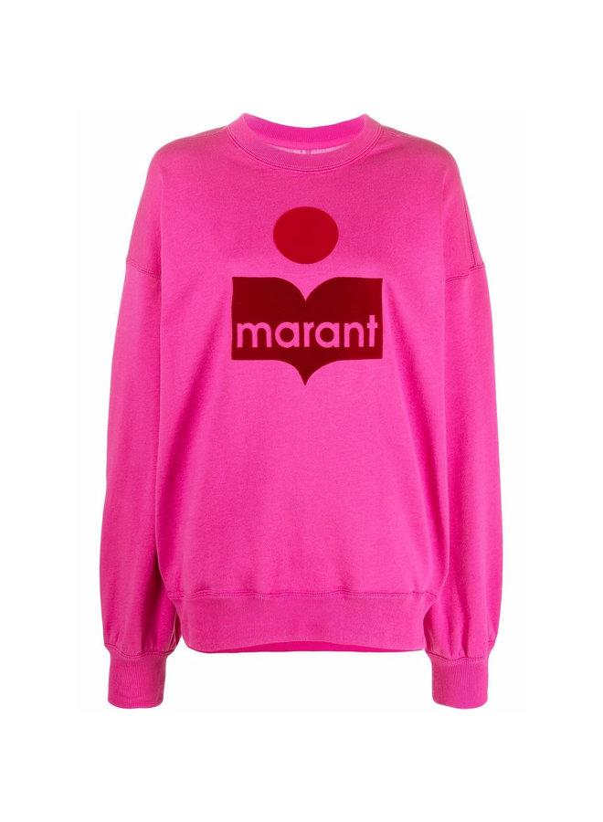 Mindy Logo Sweatshirt in Neon Pink