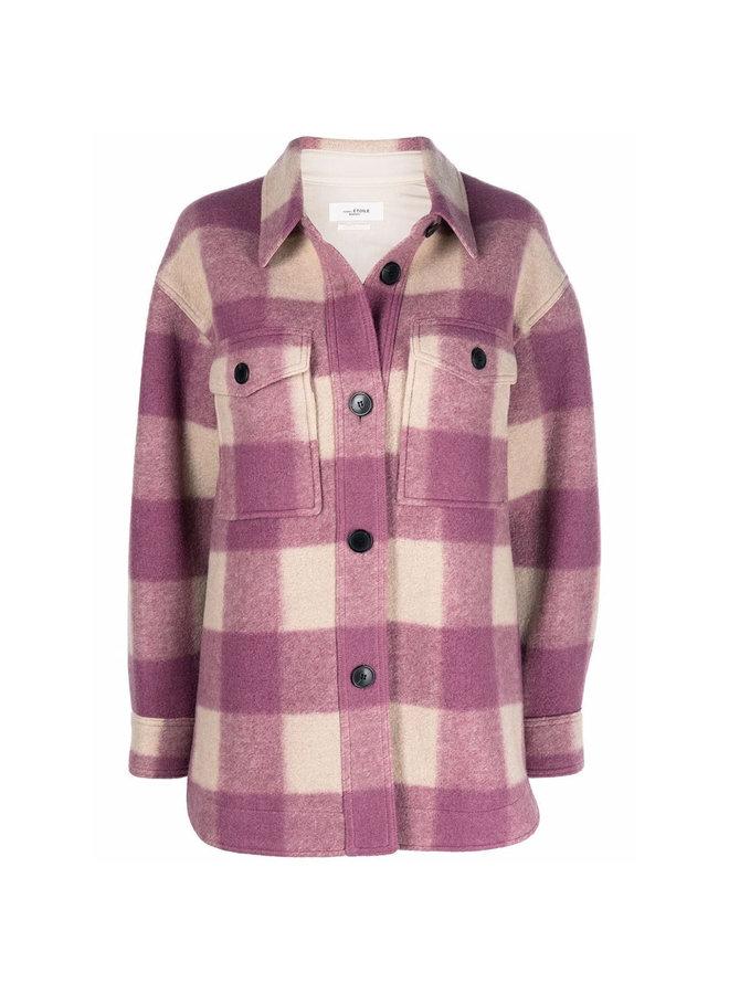 Check-Print Outwear Jacket