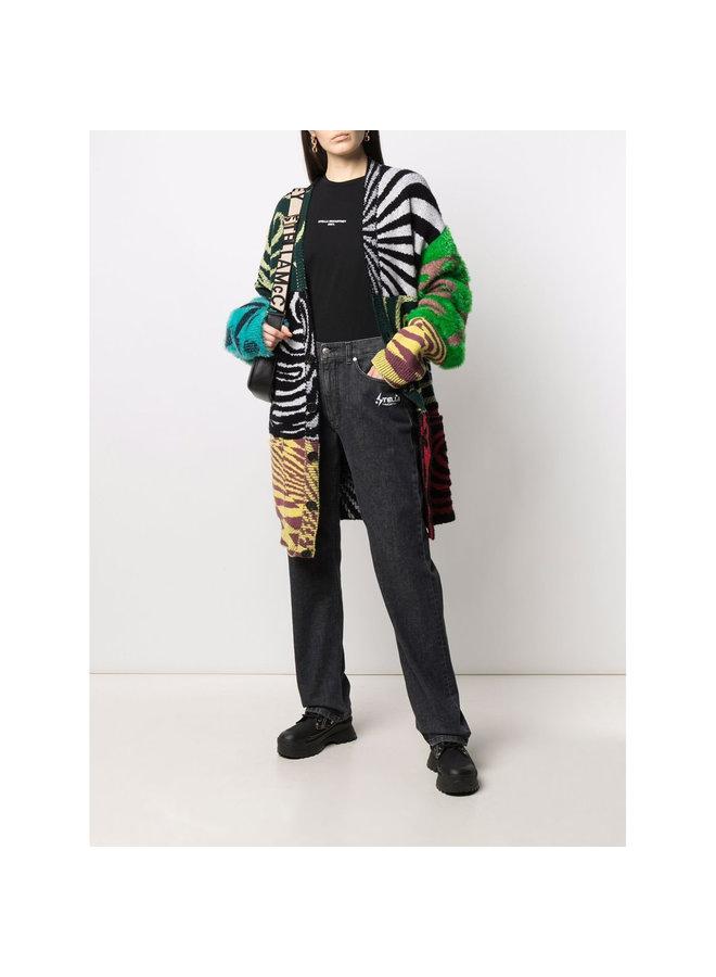 Patchwork Oversized Cardigan in Multicolor