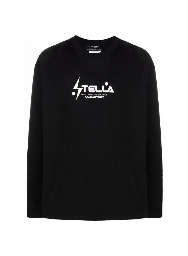 Long Sleeve Logo T-Shirt in Black