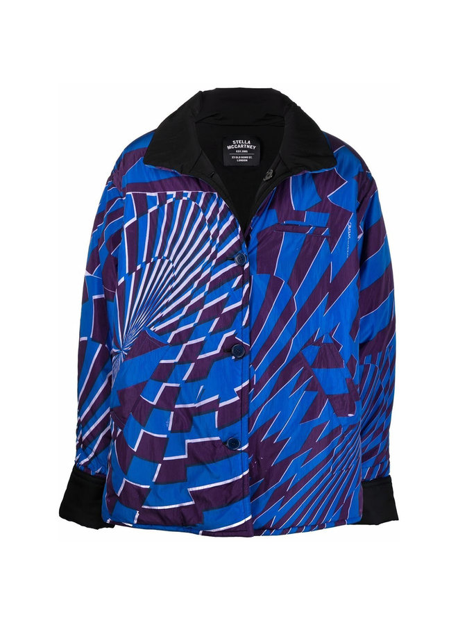Graphic Print Reversible Outwear