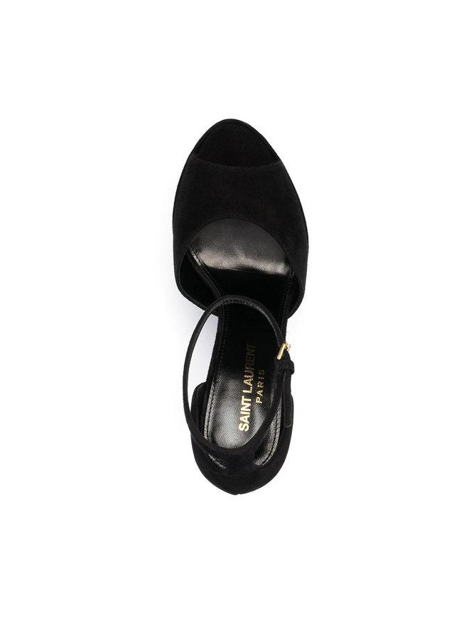 Jodie 140mm Platform Sandals in Black