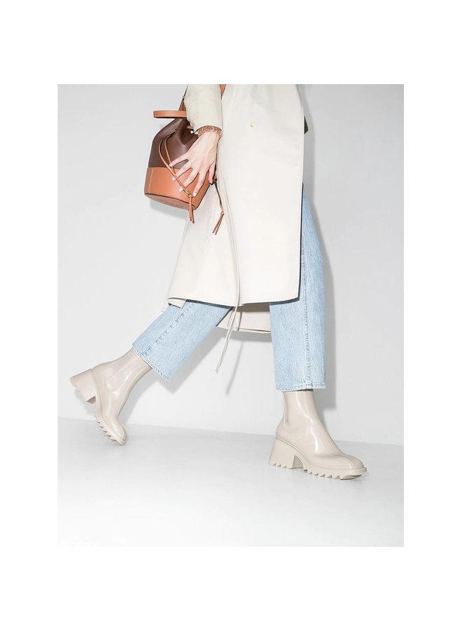 Betty Mid Heel Boots in Nomad Beige