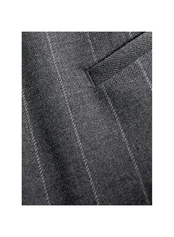 Pinstripe Flared Pants in Grey Melange
