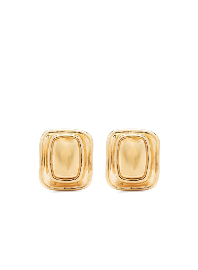 Extra Large Toy Clip Earrings in Gold