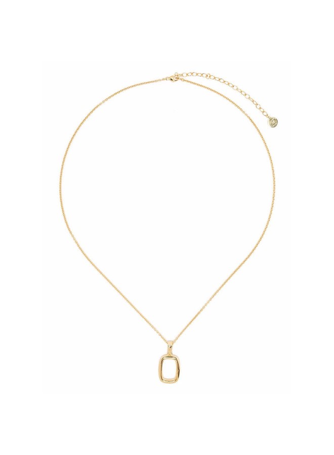Thin Chain Necklace with Small Toy in Gold