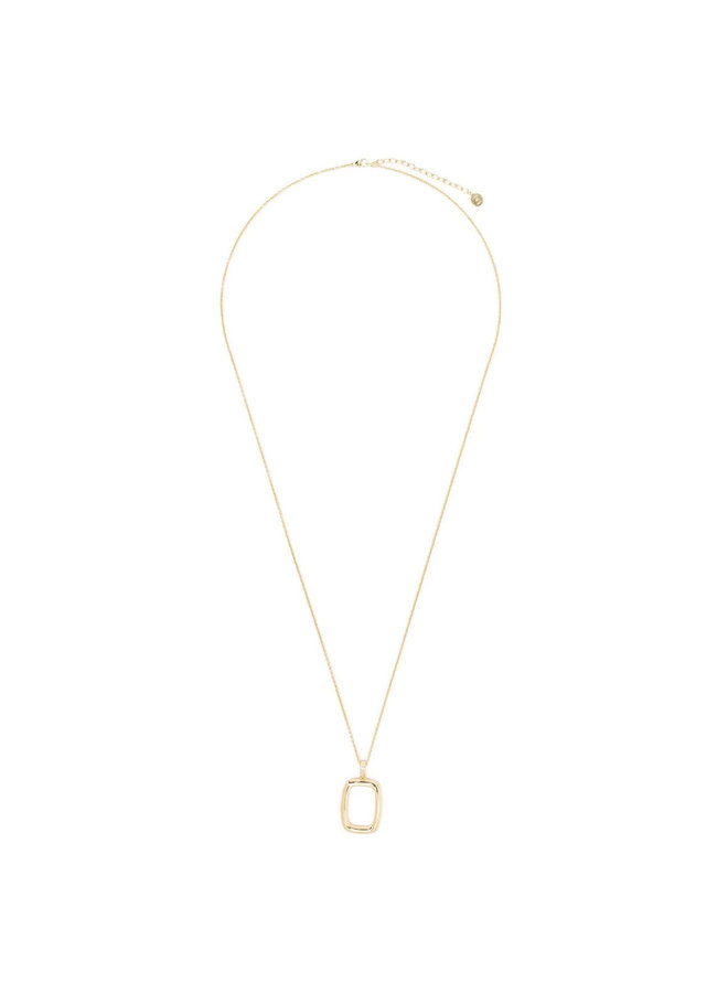 Thin Chain Necklace with Large Toy in Gold