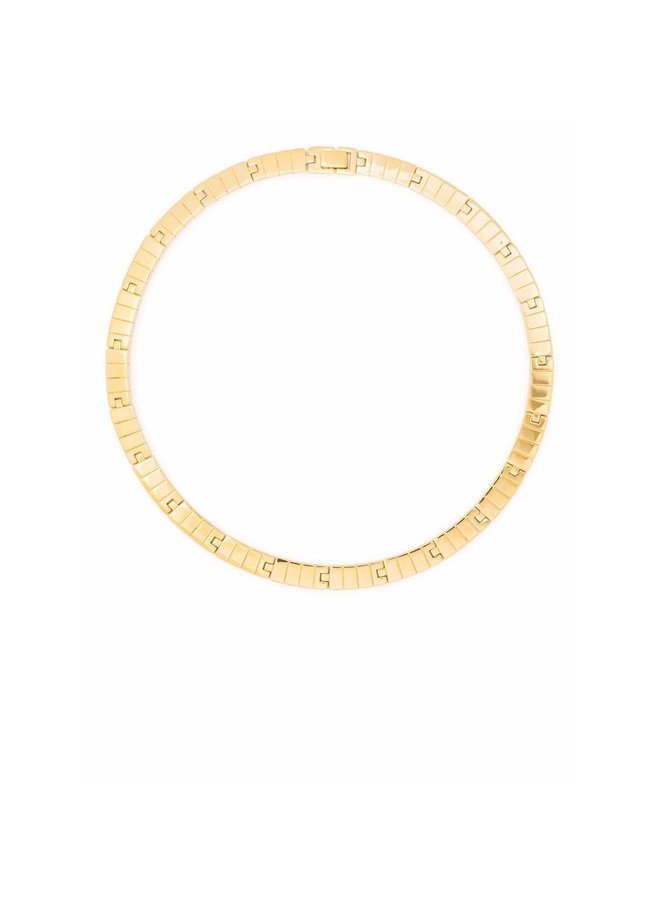 Slot Chain Princess Necklace in Gold