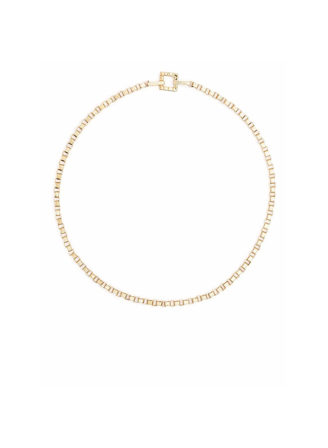 Skinny Signore Chain Choker Necklace (41CM) in gold