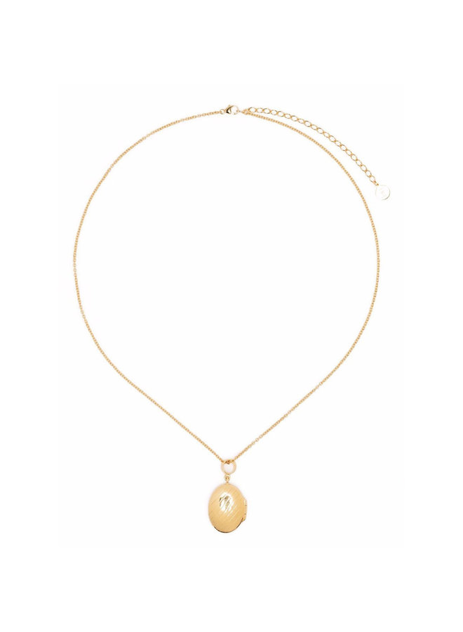 Small Signore Locket Necklace in Gold