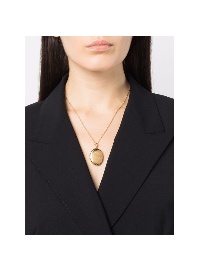 Signore Locket Necklace in Gold