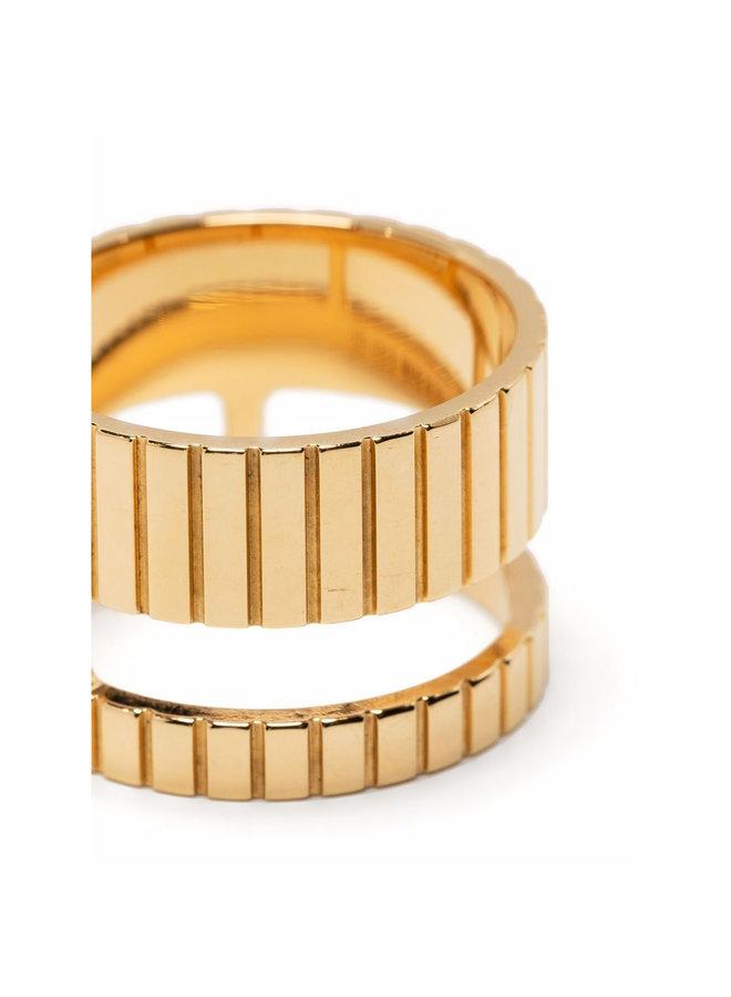 Slot Ring in Gold