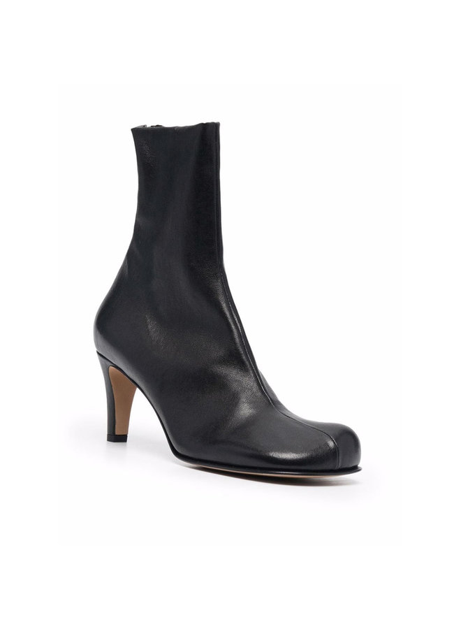 Mid Bloc Heel Boots in Black