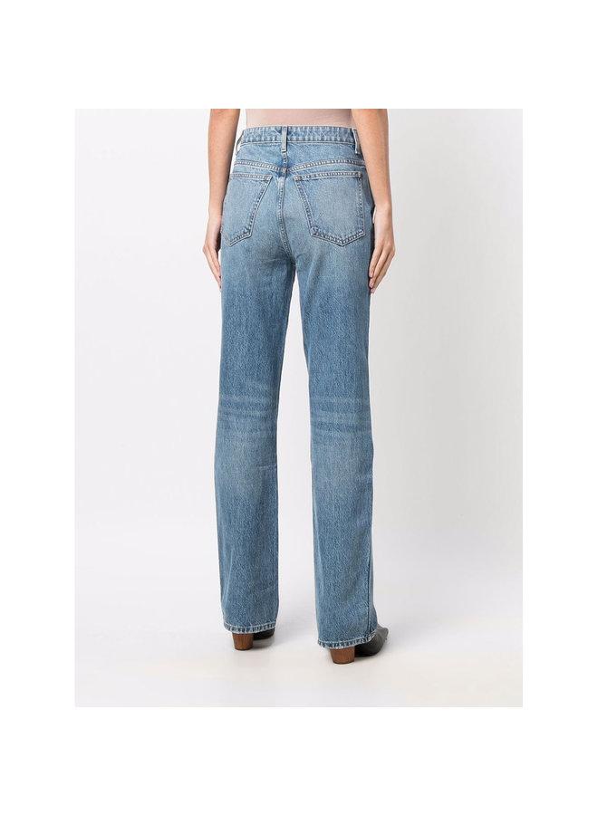 Danielle Straight Leg Jeans in Stonewash Blue