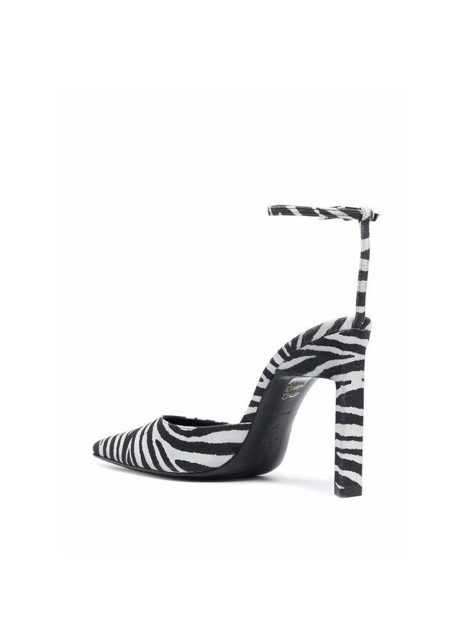 High Heel Pumps in Zebra Print