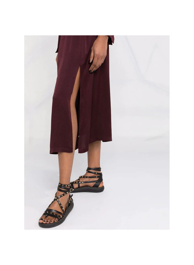 Midi Belted Dress in Chocolate
