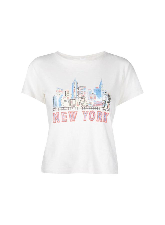 New York Printed T-shirt in White