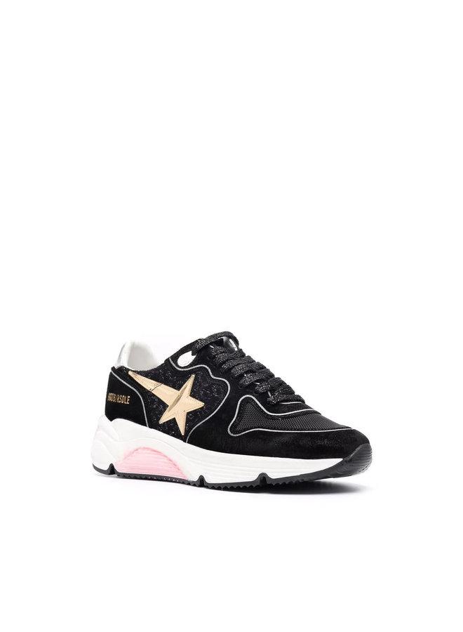 Running Sole Sneakers in Black