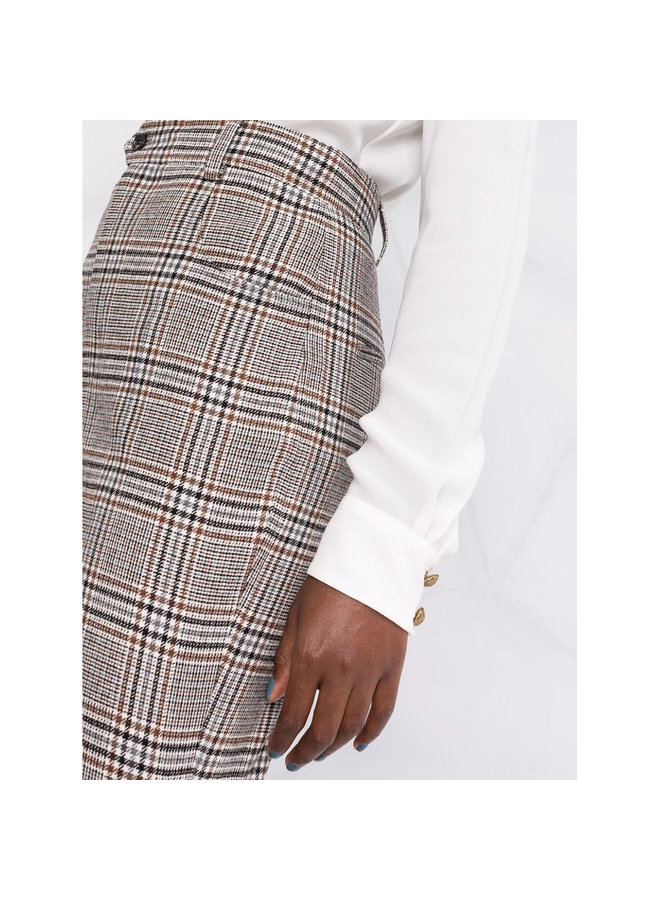 Checked Tailored Shorts in Brown/Black