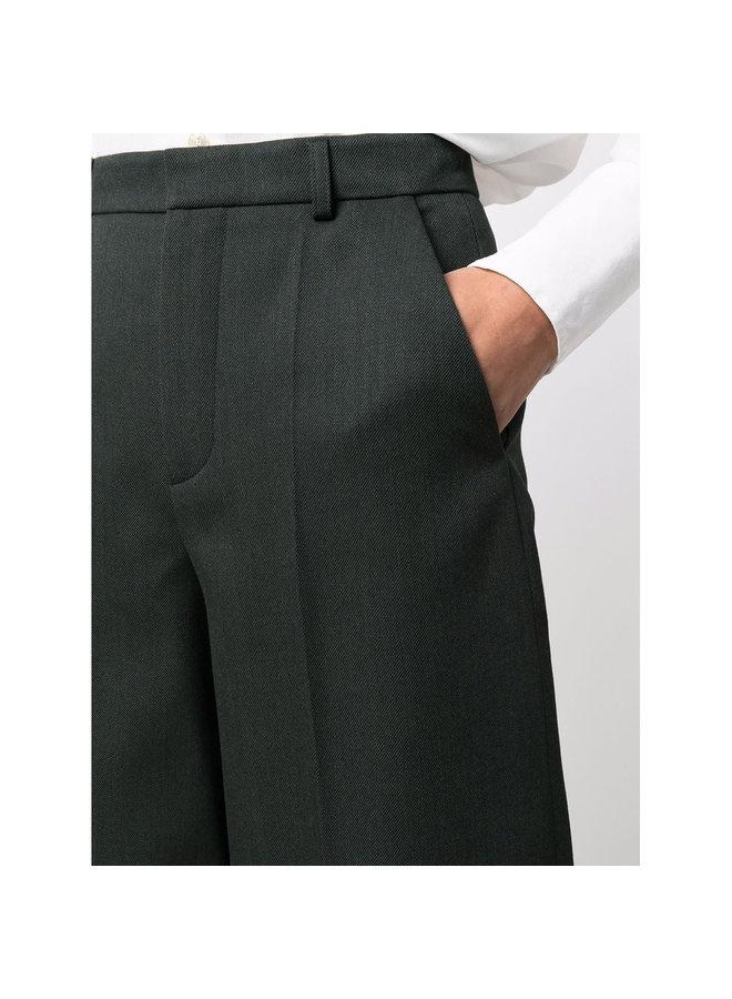 Tailored Wide Leg Culotte in Khaki