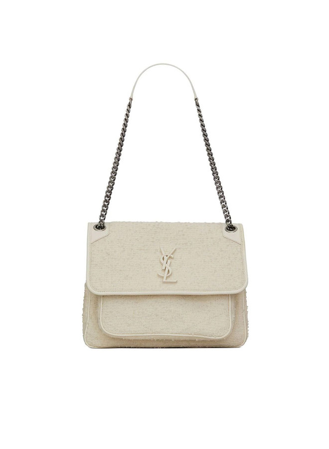 Niki Medium Shoulder Bag in White