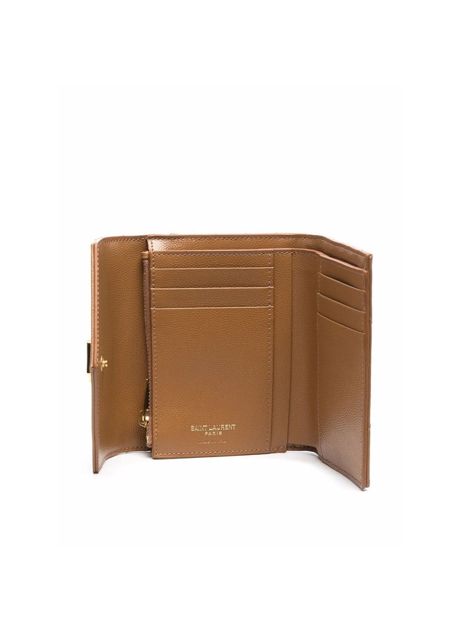 Monogram Small Flap Wallet in Dark Nature/Gold