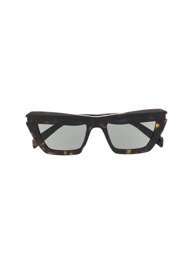 Cat Eye Frame Sunglasses in Havana/Grey