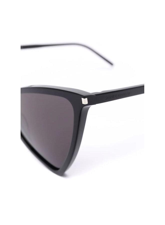 Cat Eye Frame Tinted Sunglasses in Black