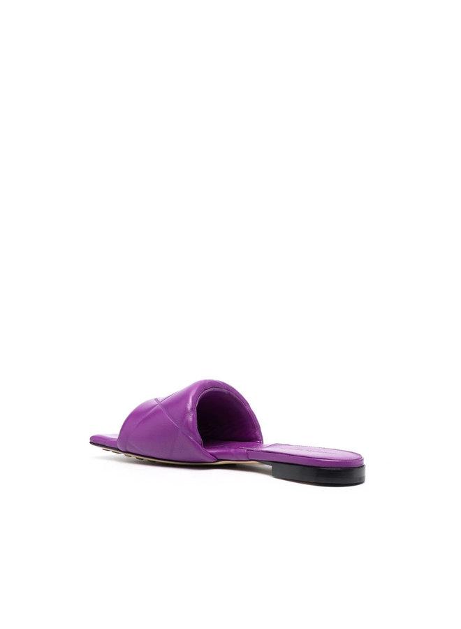 Lido Flat Mules in Violet