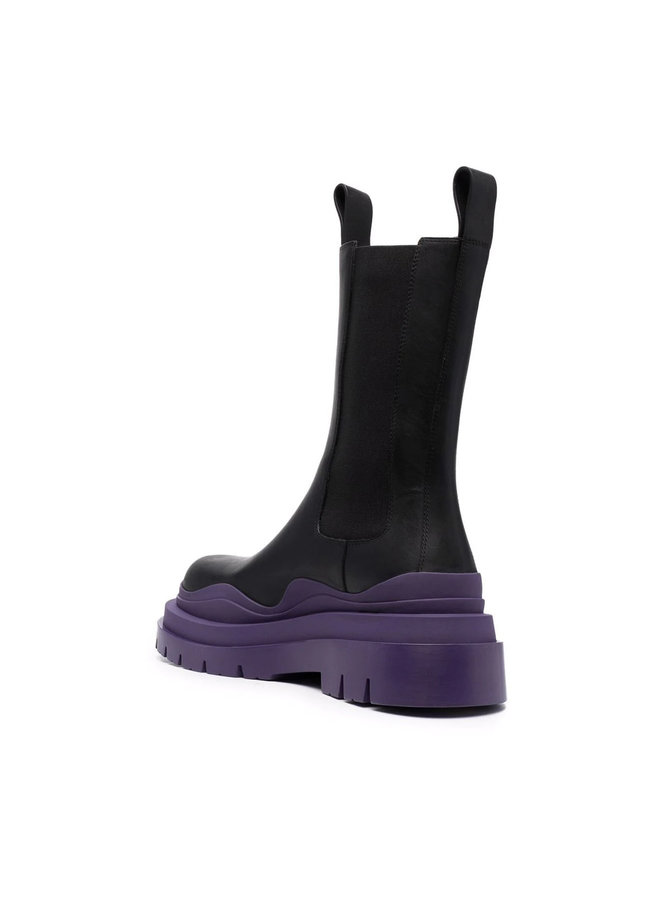 The Tire Flat Boots in Black/Purple