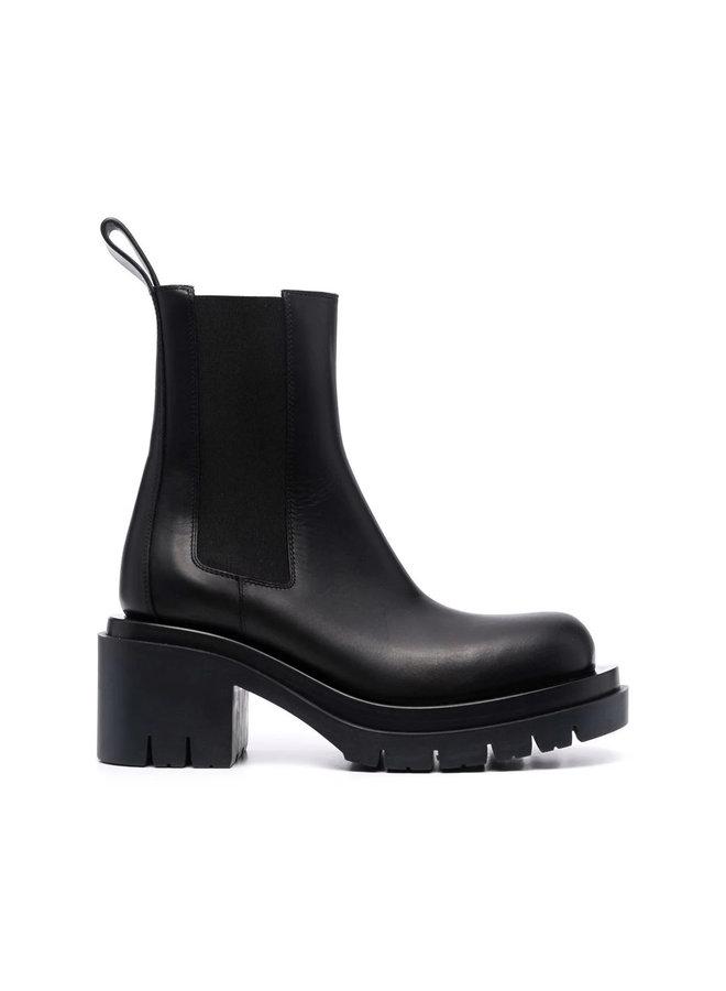 Lug Mid Heel Ankle Boots