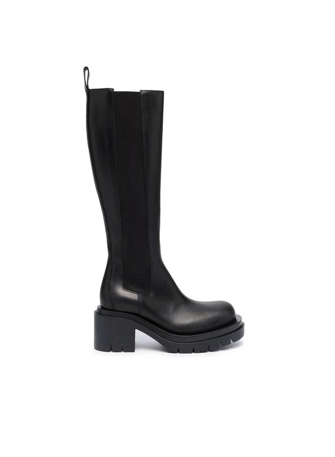 Lug Knee Length Boots
