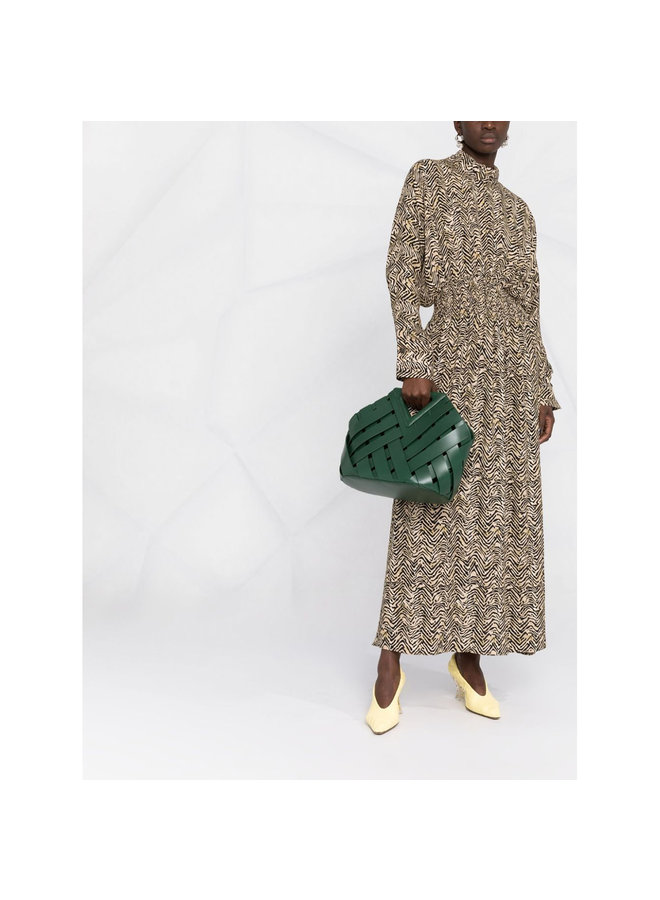 Point Tote Bag in Green/Gold
