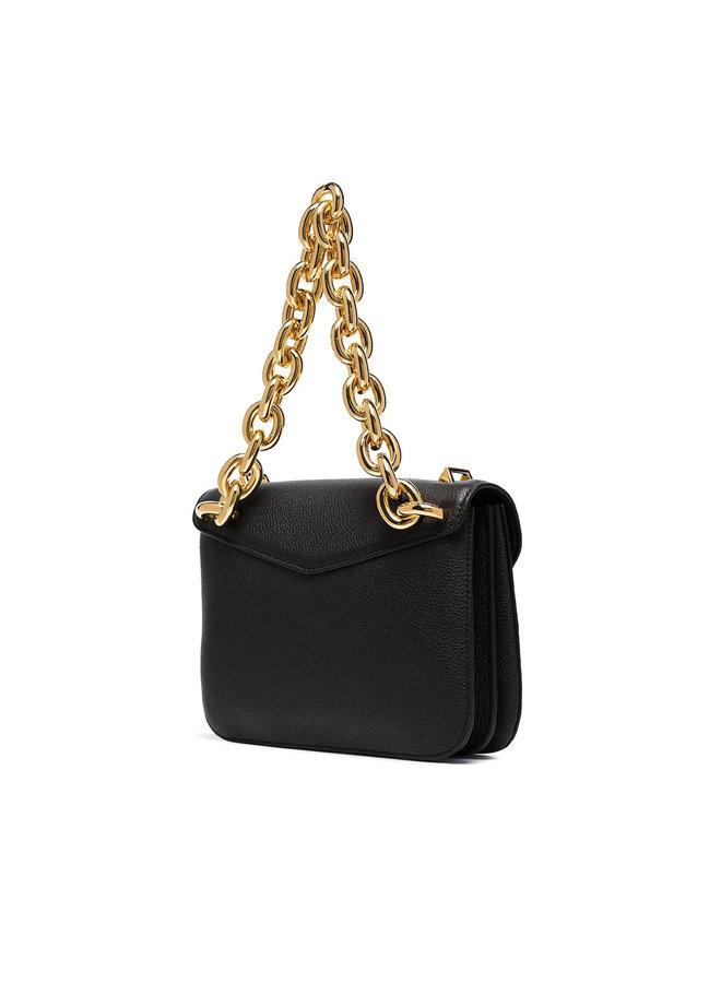 Mount Small Crossbody Bag in Black/Gold
