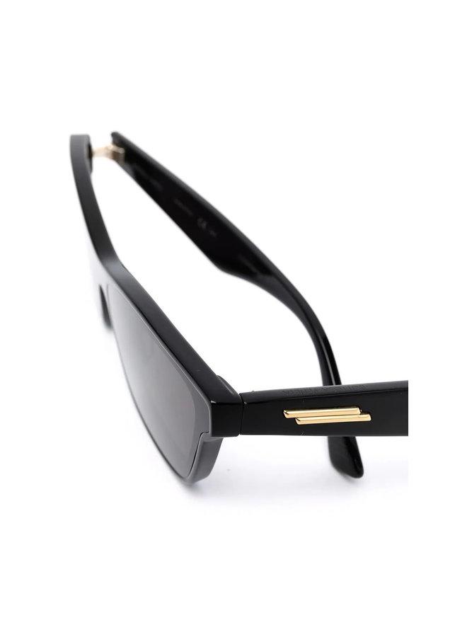 Square Frame Sunglasses in Black/Grey