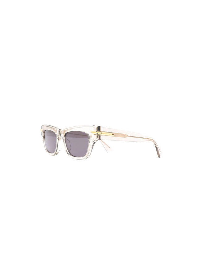 Square Frame Tinted Sunglasses in Beige/Grey