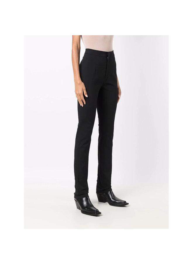 High Waisted Skinny Leg Pants in Black