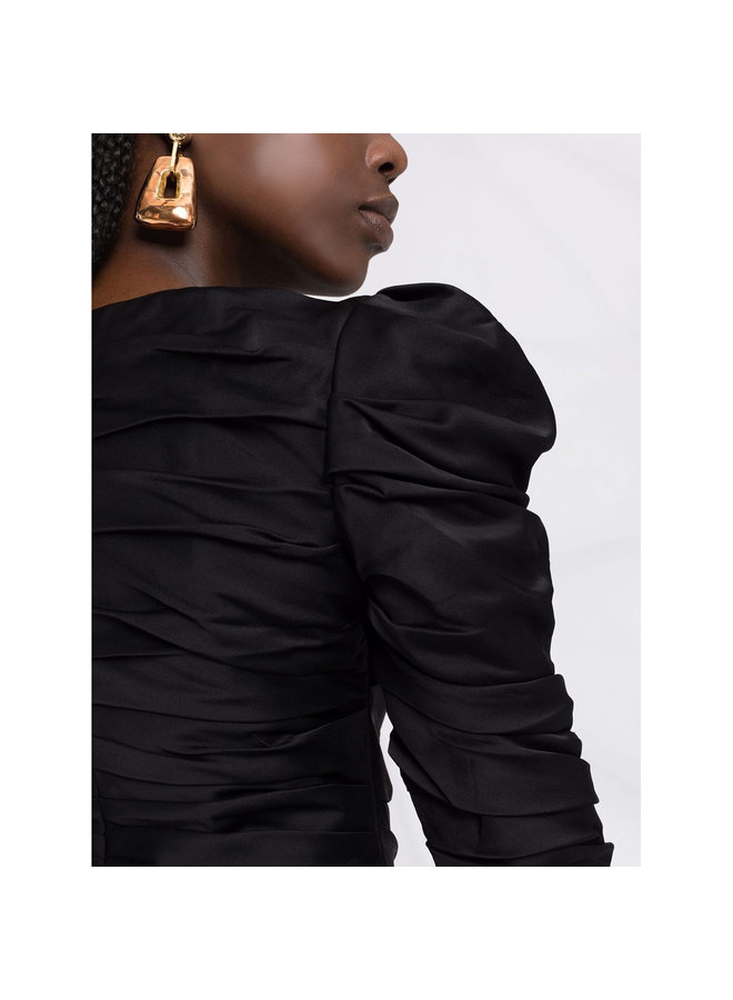Shawna Long Sleeve Blouse in Black