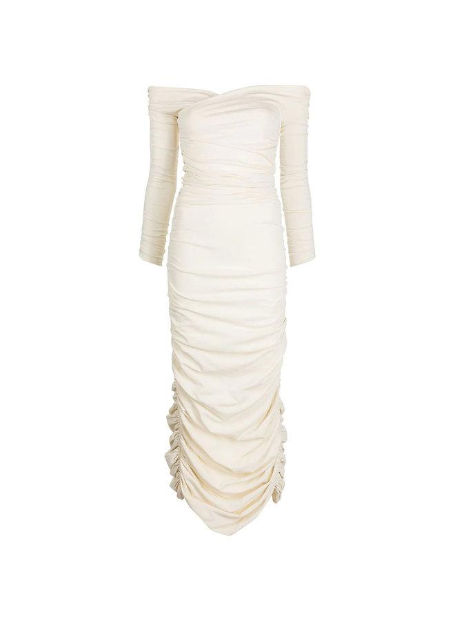 The Lydia Draped Midi Dress