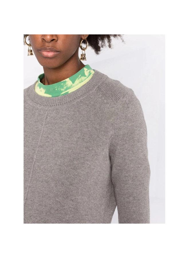 Crew Neck Sweater in Grey