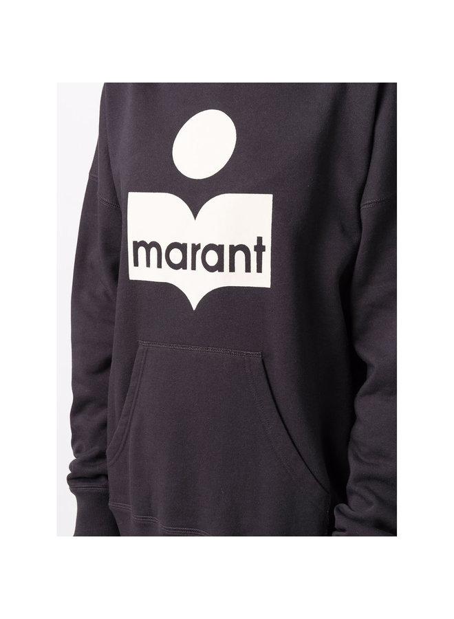 Mansel Logo Hoodie in Faded Black