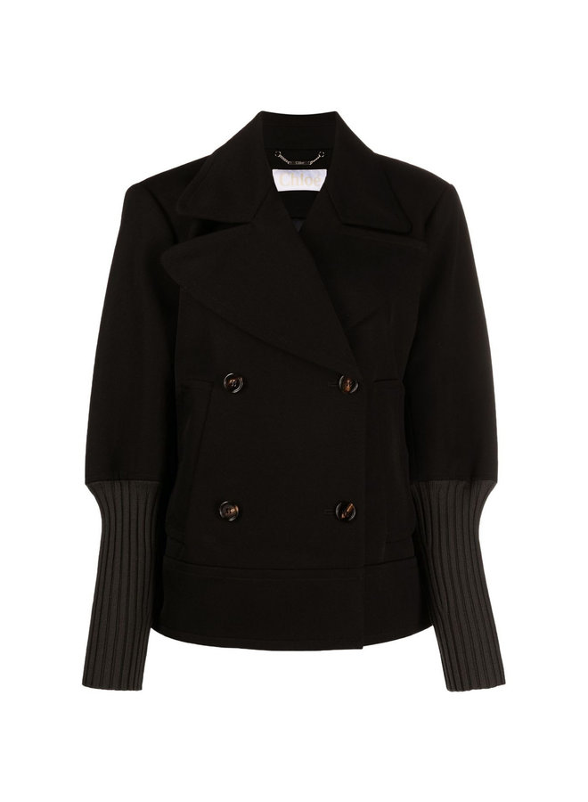 Double Breasted Jacket in Black