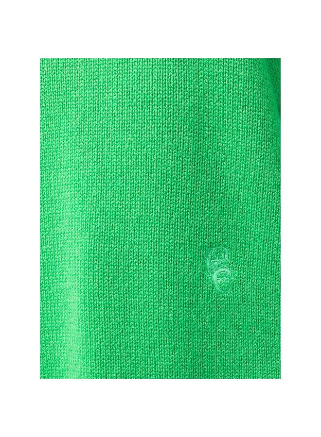 Turtleneck Knitted Jumper in Green
