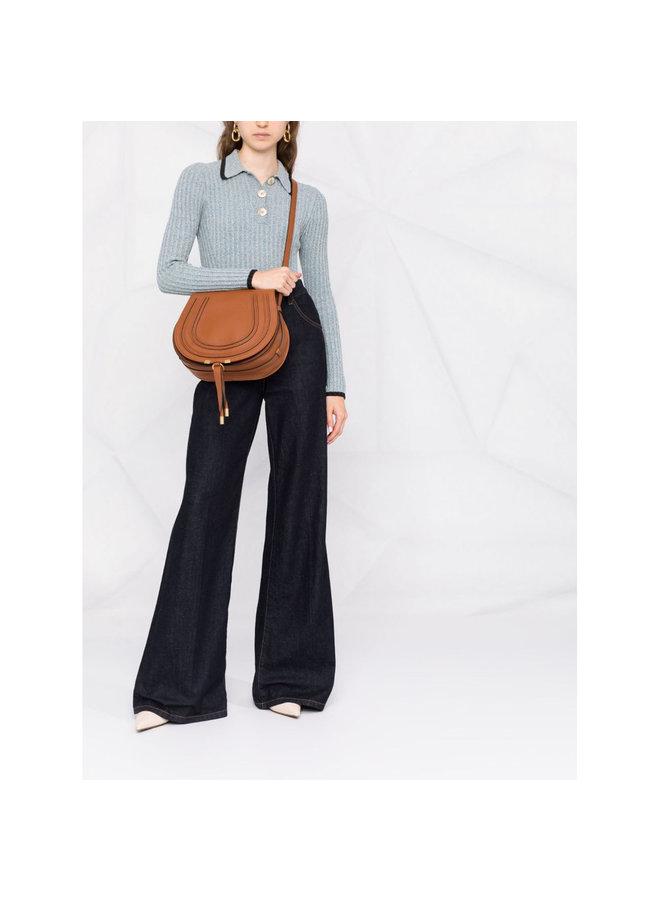 Marcie Medium Crossbody Bag in Tan
