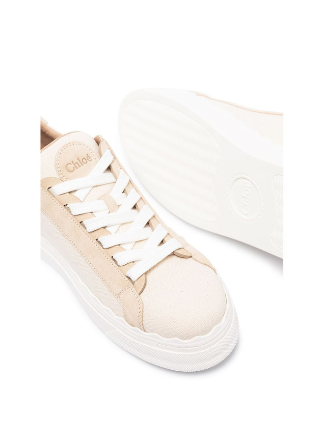 Laurent Logo Low Top Sneakers in White