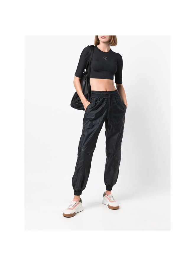 High Waisted Jogging Pants in Black