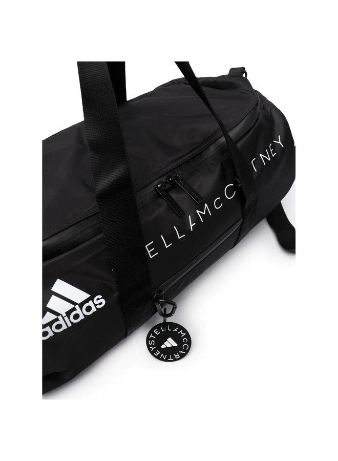 Logo Zipped Gym Bags in Black